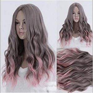 Accessories - Ash pink ombré cosplay wig